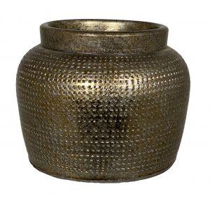 Marrakesh bloempot goud zilver D21 x H17