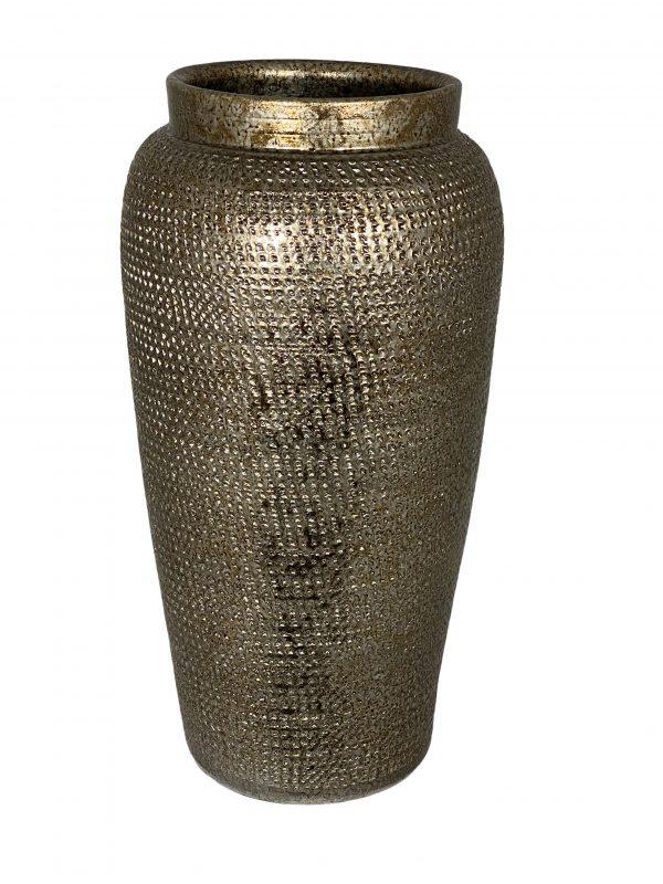 Marrakesh vaas goud zilver productfoto vooraanzicht