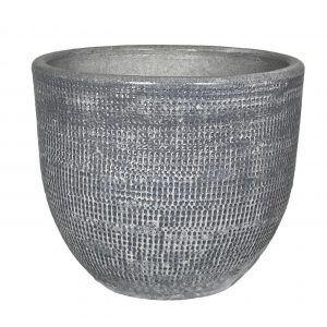 Stockholm pot zilvergrijs 39D x H36 cm productfoto vooraanzicht