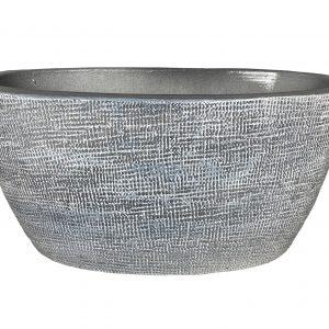 Stockholm ovale pot zilvergrijs productfoto