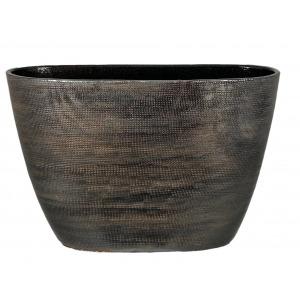 Tokio ovale pot koper bruin groot productfoto vooraanzicht