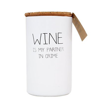 GEURKAARS - WINE IS MY PARTNER IN CRIME - GEUR: FRESH COTTON