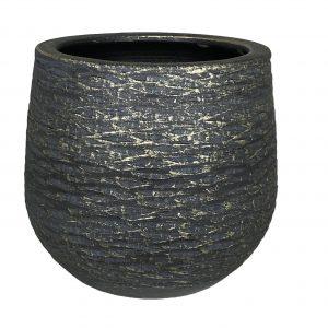 Lissabon pot zwart goud productfoto vooraanzicht