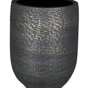 Lissabon vaas zwart goud productfoto vooraanzicht