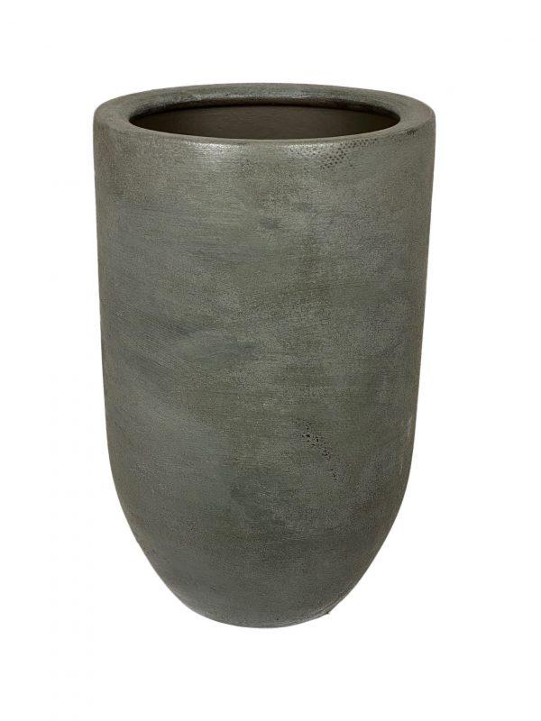 Alaska vaas staalblauw productfoto vooraanzicht