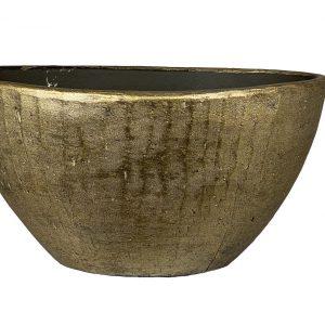 Kos ovale pot goud