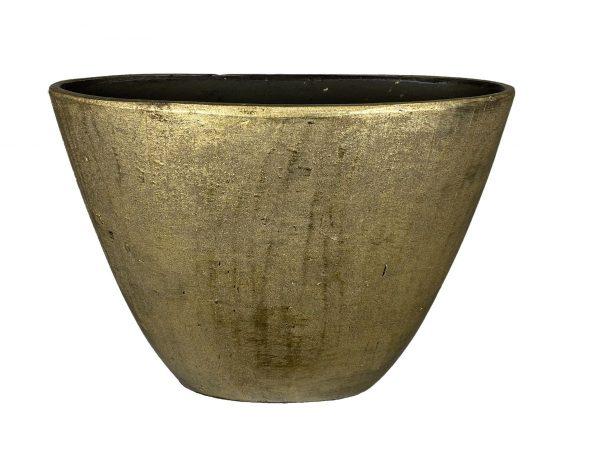 Kos ovale pot goud hoog