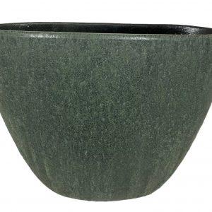 Chicago ovale pot groen productfoto vooraanzicht