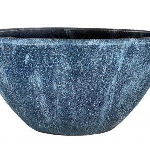 Chicago ovale pot blauw productfoto vooraanzicht